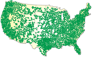 Allpoint Service Coverage Map